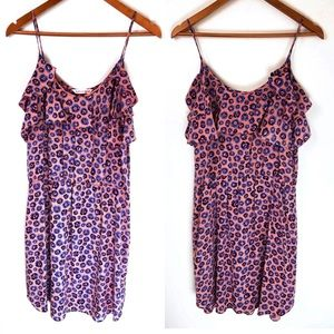 Rebecca Taylor Floral Silk Sun Dress Ruffle